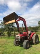 MASSEY FERGUSON 1250 TRACTOR WITH LOADER, RUNS, DRIVES AND DIGS *PLUS VAT*