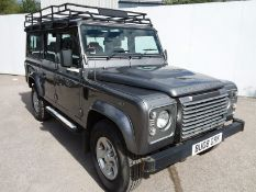 2008/08 REG LAND ROVER DEFENDER 110 XS LWB STATION WAGON 2.4 DIESEL, 7 SEATER, AIR CON *NO VAT*