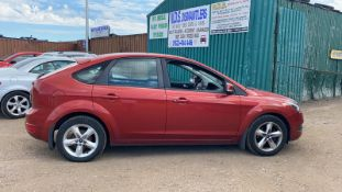 2008/08 REG FORD FOCUS ZETEC 100 1.6 PETROL 5 DOOR HATCHBACK, SHOWING 3 FORMER KEEPERS *NO VAT*