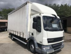2013/13 REG DAF TRUCKS LF FA 45.160 FB WHITE CURTAIN SIDED LORRY, SHOWING 0 FORMER KEEPERS *PLUS VAT
