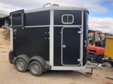2014 IFOR WILLIAMS TWIN AXLE HORSE BOX TRAILER HB506 BLACK *PLUS VAT*