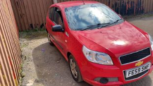 2009/59 REG CHEVROLET AVEO S 1.2 PETROL RED 3 DOOR HATCHBACK, SHOWING 1 FORMER KEEPER *NO VAT*
