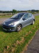 2007/56 REG PEUGEOT 207 SE 87 1.4 PETROL 5 DOOR GREY HATCHBACK, SHOWING 5 FORMER KEEPERS *NO VAT*