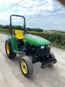 JOHN DEERE 4410 COMPACT TRACTOR, RUNS, WORKS, DRIVES, 4 WHEEL DRIVE, POWER STEERING, 3 POINT LINKAGE