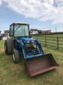 FORD 1920 TRACTOR WITH LOADER, RUNS, DRIVES AND DIGS, 4-IN-1 BUCKET, 3010 HOURS *PLUS VAT*