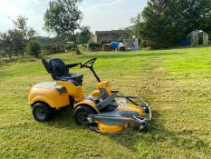 STIGA PARK 4WD DIESEL RIDE ON LAWN MOWER, HYDRAULIC UP AND DOWN DECK, RUNS, WORKS AND CUTS *NO VAT*