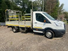 2015/15 REG FORD TRANSIT 350 WHITE DROPSIDE LORRY 2.2 DIESEL, SHOWING 0 FORMER KEEPERS *PLUS VAT*