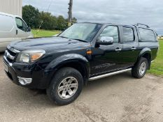 2011/11 REG FORD RANGER XLT 4X4 DOUBLE CAB TDCI BLACK PICK-UP, SHOWING 1 FORMER KEEPER *NO VAT*