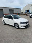 2015/15 REG SKODA FABIA SE L TDI 1.4 DIESEL WHITE 5 DOOR HATCHBACK, SHOWING 1 FORMER KEEPER *NO VAT*