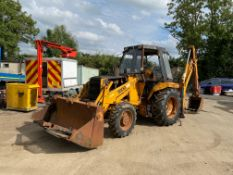 CASE 580G 4X4 BACKHOE LOADER, 6500 HOURS, EXTENDING DIPPER, RUSTY CAB, 4-IN-1 BUCKET, RUNS & DRIVES