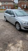 2007/07 REG VAUXHALL ASTRA DESIGN 1.6 PETROL SILVER ESTATE, SHOWING 3 FORMER KEEPERS *NO VAT*