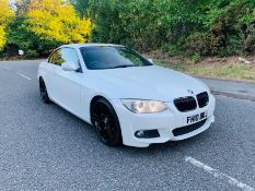 2010/10 REG BMW 330D M SPORT 3.0 DIESEL AUTOMATIC WHITE CONVERTIBLE *NO VAT*