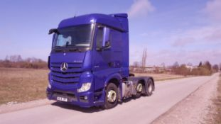 2014/14 REG MERCEDES ACTROS 2545LS BLUE LHD TRACTOR UNIT, SHOWING 3 FORMER KEEPERS *NO VAT*