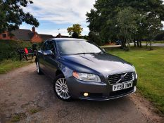 2008/58 REG VOLVO S80 SE TURBO DIESEL 2.0 GREY 4 DOOR SALOON, SHOWING 4 FORMER KEEPERS *NO VAT*