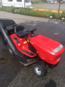 JONSERED HUSKVARNA LT2112 RIDE ON LAWN MOWER, 180 KG, YEAR 2002, C/W GRASS COLLECTOR, RUNS & WORKS