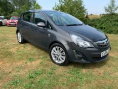 2014/64 REG VAUXHALL CORSA SE 1.2 PETROL GREY 5 DOOR HATCHBACK, SHOWING 2 FORMER KEEPERS *NO VAT*