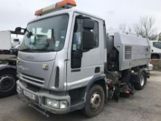 2008 IVECO EUROCARGO ML75E16K DAY SCARAB STREET CLEANSING SWEEPER LEFT HAND DRIVE, MANUAL GEARBOX