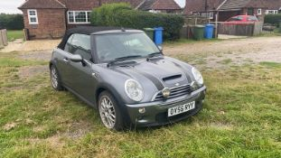 2006/56 REG MINI COOPER S 1.6 PETROL GREY CONVERTIBLE *NO VAT*