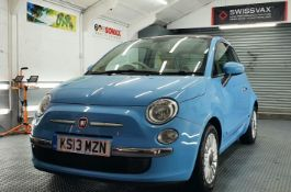 2013/13 REG FIAT 500 LOUNGE RHD 1.25 PETROL BLUE 3 DOOR HATCHBACK, SHOWING 1 FORMER KEEPER *NO VAT*