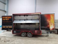 BRADLEY EXHIBITION / CATERING TRAILER 2700 KG GROSS MAX WEIGHT - 2 IDENTICAL TRAILERS AVAILABLE
