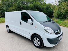 2011/11 REG VAUXHALL VIVARO 2900 CDTI 113 LWB 2.0 DIESEL WHITE PANEL VAN, SHOWING 2 FORMER KEEPERS