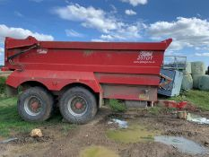 20 TONNE DUMP TRAILER, TYRES GOOD. NOT HAD MUCH WORK, SPRUNG DRAWBAR, ONE AIR, YEAR 2018 *PLUS VAT*