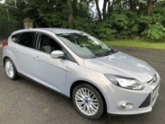 2013/13 REG FORD FOCUS ZETEC 105 1.6 PETROL SILVER 5 DOOR HATCHBACK, SHOWING 1 FORMER KEEPER *NO VAT