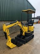 2020 RHINOCEROS XN08 EXCAVATOR RUBBER TRACKS, CANOPY, 3 X BUCKETS, RUNS, DRIVES AND DIGS *PLUS VAT*