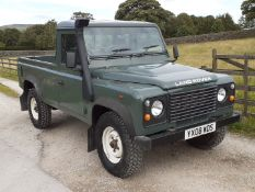 2008/08 REG LAND ROVER DEFENDER 110 SINGLE CAB LWB PICK-UP 2.4 DIESEL, SHOWING 2 FORMER KEEPERS
