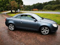 2008/57 REG VOLKSWAGEN EOS SPORT TDI 2.0 DIESEL GREY CONVERTIBLE, SHOWING 4 FORMER KEEPERS *NO VAT*