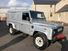 2003/53 REG LAND ROVER DEFENDER 110 HARD TOP TD5 COMMERCIAL 2.5 DIESEL SILVER LIGHT 4X4 UTILITY