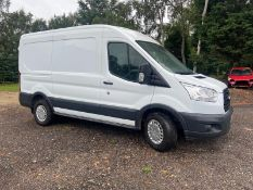 2014/64 REG FORD TRANSIT 330 ECONETIC 2.2 DIESEL WHITE PANEL VAN, SHOWING 0 FORMER KEEPERS