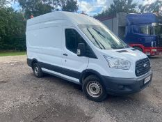 2015/15 REG FORD TRANSIT 350 2.2 DIESEL WHITE PANEL VAN, SHOWING 0 FORMER KEEPERS *PLUS VAT*