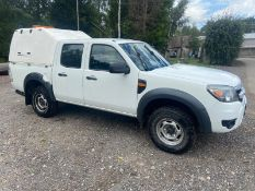 2011/11 REG FORD RANGER XL 4X4 D/C TDCI 2.5 DIESEL WHITE PICK-UP, SHOWING 1 FORMER KEEPER *PLUS VAT*