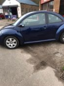 2007/57 REG VOLKSWAGEN BEETLE LUNA 102PS 1.6 PETROL 3DR HATCHBACK, SHOWING 2 FORMER KEEPERS *NO VAT*