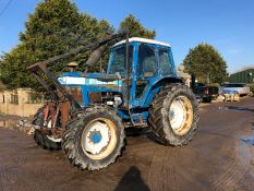 FORD 7710 4 WHEEL DRIVE TRACTOR, FRONT LINKAGE, REAR PTO DRIVEN WINCH, GOOD TYRES *PLUS VAT*