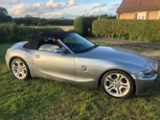 2006/56 REG BMW Z4 SPORT 2.0 PETROL GREY CONVERTIBLE, SHOWING 4 FORMER KEEPERS *NO VAT*