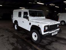 2016/16 REG LAND ROVER DEFENDER 110 HARD TOP TURBO DIESEL 2.2 WHITE LIGHT 4X4 UTILITY *PLUS VAT*
