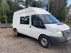2013/13 REG FORD TRANSIT 100 T350 RWD 2.2 DIESEL WELFARE / MESS VAN, SHOWING 2 FORMER KEEPERS