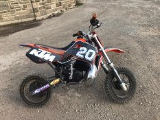 KTM 50CC MOTOR BIKE, RUNS AND WORKS PERFECT, IN GOOD CONDITION *NO VAT*