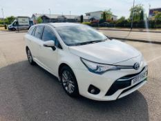 2017/17 REG TOYOTA AVENSIS VALVEMATIC BUSINESS EDITION 1.8 DIESEL 145HP AUTO WHITE ESTATE *NO VAT*