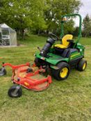 2016 JOHN DEERE 1580 TERRAIN CUT OUT FRONT RIDE ON LAWN MOWER, 4 WHEEL DRIVE, VERY LOW HOURS - 2374!