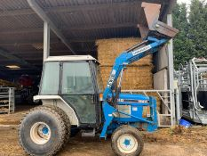 FORD 1920 BLUE COMPACT UTILITY 4x4 TRACTOR C/W LEWIS LANDLUGGER 33 FRONT LOADER ATTACHMENT BUCKET