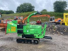 GREENMECH 50 ARBTRAK WOOD CHIPPER, RUNS, WORKS AND CHIPS, YEAR 2014, HOURS 1147 *PLUS VAT*