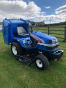 ISEKI SGR19 RIDE ON LAWN MOWER, RUNS, DRIVES AND CUTS, 895 HOURS, HIGH TIP *PLUS VAT*