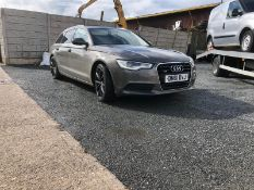 2011/61 REG AUDI A6 SE TDI QUATTRO 3.0 DIESEL AUTO ESTATE, SHOWING 2 FORMER KEEPERS *NO VAT*