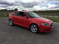 2005/55 REG AUDI A3 SPORT TDI 2.0 DIESEL RED 3 DOOR HATCHBACK, SHOWING 6 FORMER KEEPERS *NO VAT*