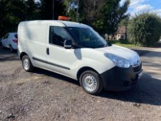 2014/14 REG VAUXHALL COMBO 2000 L1H1 CDTI 1.25 DIESEL WHITE PANEL VAN, SHOWING 0 FORMER KEEPERS