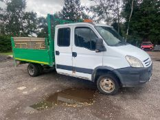2008/08 REG IVECO DAILY 35C15 LWB 3.0 DIESEL DROPSIDE 3 SEATS, SHOWING 4 FORMER KEEPERS *NO VAT*