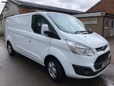 2016/66 REG FORD TRANSIT CUSTOM 290 LIMITED 2.0 DIESEL WHITE PANEL VAN, SHOWING 2 FORMER KEEPERS